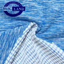 Changshu Textil CD Polyester Jacquard Melange Spandex Frottee Fleece Stoff für Trainingsanzug