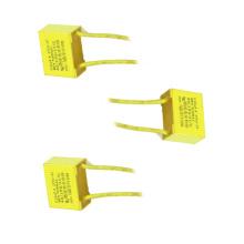 2016 Topmay Low Loss Amarelo 0.22UF 275VAC X2 Capacitor de Filme de Polipropileno Metalizado Tmcf18