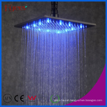 Fyeer Big LED Color Square Black Rainfall Shower Head