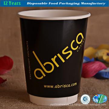 8 Oz Double Walled de taza de papel de café