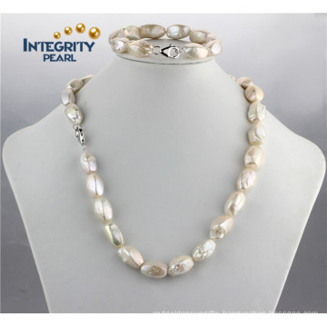 Special Square Baroque 10-11mm AA Freshwater Narural Pearl Set