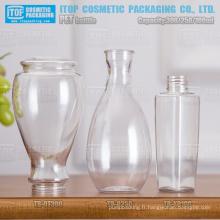 100ml 250ml 300ml design spécial monocouche dur de bonne qualité couleur injection unique plastique clair bouteille d'animal familier