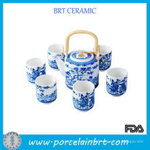 Traditional Paint Bone China Tea Set
