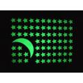DIY флуоресцентные светящиеся наклейки наклейки детская комната украшения 3D светящиеся в темноте звезды наклейки
