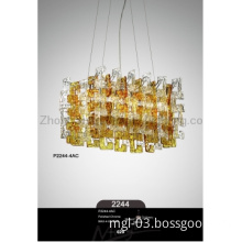 G9 Elegant Glass Yellow Bar Villa Hotel Practical Unique Pendant Lamps