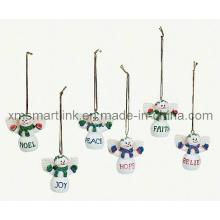 Regalos de muñeco de nieve de Navidad Polyresin, Decoración de recuerdo de árbol de Navidad