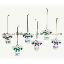 Polyresin Christmas Snowman Gifts, Christmas Tree Souvenir Decoration