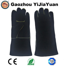 Cow Split Leather Heat Resistant Welding Gloves, BBQ Gloves