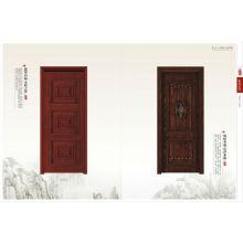 Porta de madeira maciça moderna