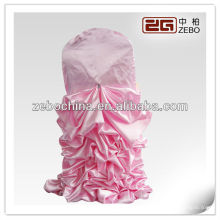 Hot selling design direct fabricé en usine sur mesure en satin froissé couverture de chaise de mariage