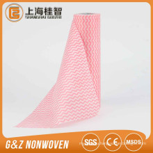 Printed wave pattern disposable kithchen dish cloth