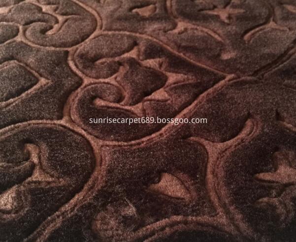 macro figure embossing carpet