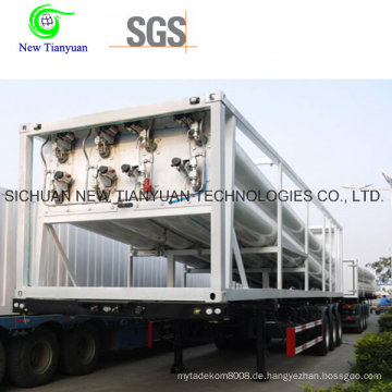 12 Tubes CNG Tube Bundle Container, CNG Auflieger