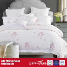 Juego de sábanas impreso 40S 200TC para uso doméstico / del hotel
