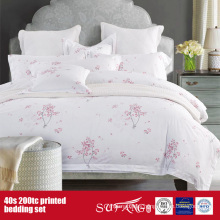 40S 200TC Printed Bedding set for Hotel/Home Use