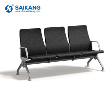 SKE006-2 Cheap Stainless Steel Metal 3-Seater Waiting Chair