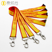 Custom double color jacquard woven neck lanyards