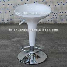 White Bar Chair with Silver Base (YC-H020)