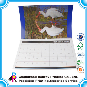 Customized high quality large paper wall calendar for 2015 new year gift