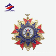 Die cast embossed colour enamel nice gold souvenir medal