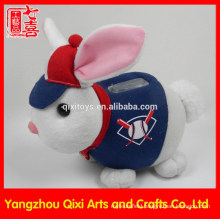 2015 children toys plush money box rabbit shaped coin bank money box customized money saving box