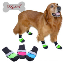 High quality low prices waterproof pet snow boots safety reflecting anti slip dog shoes
