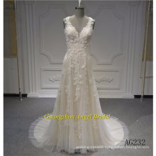 Sleeveless Mermaid Amazing Lace Bridal Dress