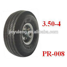 10x3.50-4 pneumatic rubber wheels for hand trolley/ wheel barrow