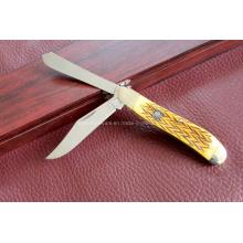 Cuchillo doble de las láminas de la manija de la resina (SE-0486)