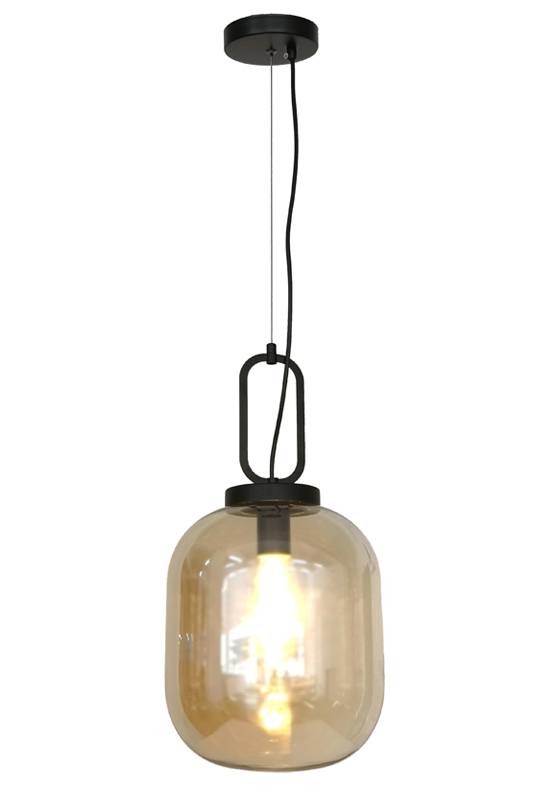 Modern Pendant Amber Color Lamp