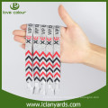 Company promotion billig preis benutzerdefinierte Tuch Wristbands kostenlose Probe
