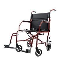 Складная инвалидная коляска с ручным управлением из алюминия и стали с многоцветным покрытием