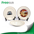 Blank Gold Rim Sublimation Ceramic Plate For Printing