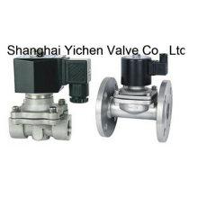 Válvula solenóide de pressão zero de 2/2 vias em aço inoxidável (YCZS)