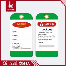 BOSHI BD-P14 Green Lockout Label für die Sicherheit der Industrie