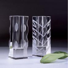 Arte de cristal de alta calidad del florero para la decoración casera