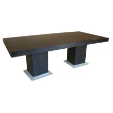 Table à manger rectangulaire noire pour meubles d'hôtel