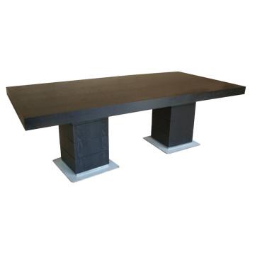Черный прямоугольный обеденный стол для мебели гостиницы