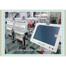 OEM-1202C Automático comercial digital doméstico 2 / cabeça dupla computadorizada máquina de bordar boné com preços