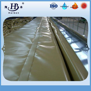 Acrylic treatment pvc truck tarpaulin with roller