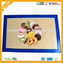 Custom FDA LFGB approuvé Chine Fabricant Prix usine Haute qualité de qualité alimentaire Nasstick Fiberglass Silicone Baking Mat