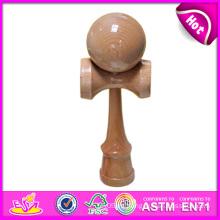 Juguetes de madera promocionales de Kendama para el regalo, juguete de madera clásico de Kendama Venta al por mayor, juguete de madera de Kendama con 18.5 * 6 * 7cm W01A026
