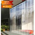 Cortina de porta use rolo transparente de pvc flexível