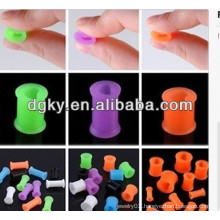 Silicone fake ear plug ear piercing jewelry