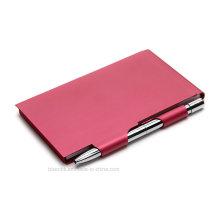Support de pochette en métal avec stylo pour cadeaux professionnels