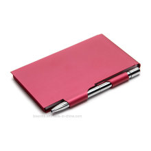 Metal Note Pad Holder with Pen for Business Gifts