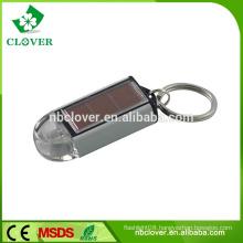 Mini 1 led flashlight personalized solar keychain with light