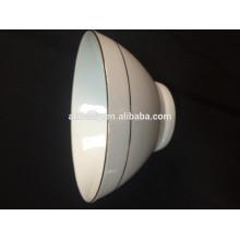 tazón de fuente de cerámica blanca del diseño personal, cuenco profundo