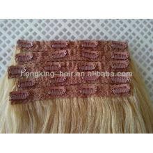 Menschliches Haar Spitze Clip in Haarverlängerungen in China gemacht