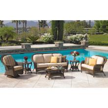 Garden Rattan Wicker Outdoor Lounge Furniture Patio Sofa Set